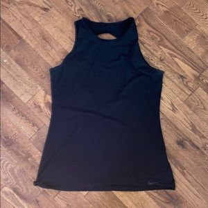 Nike running shirt with small open back cutout